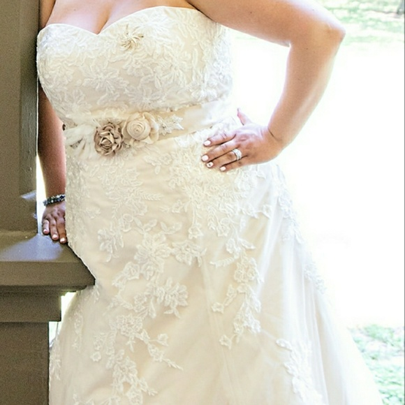Size 20 Unaltered Davids Bridal Wedding